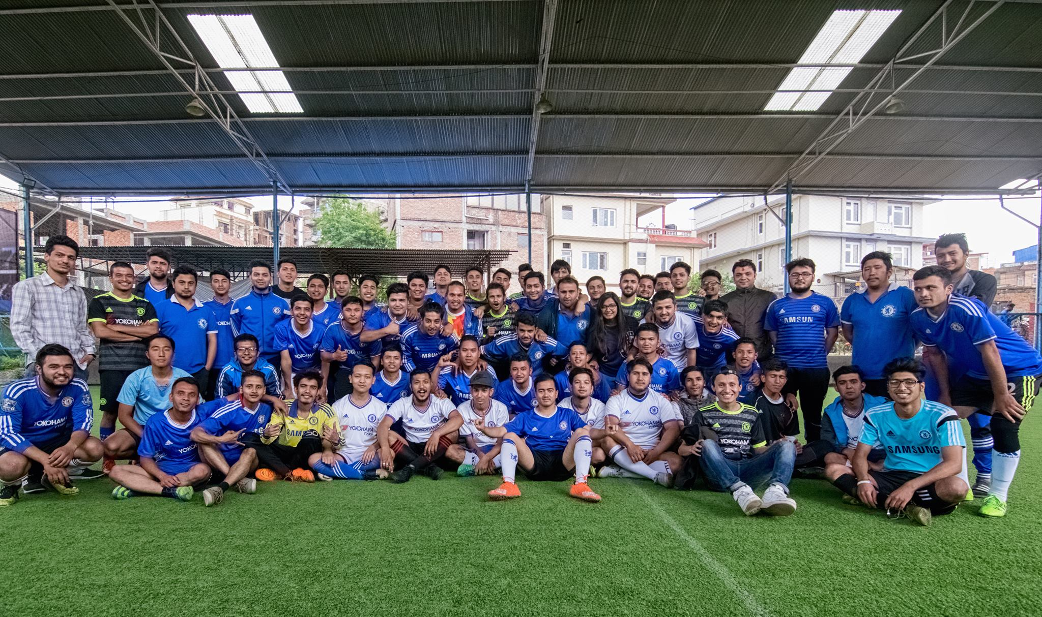 Chelsea supporters from Nepal traveling to Singapore