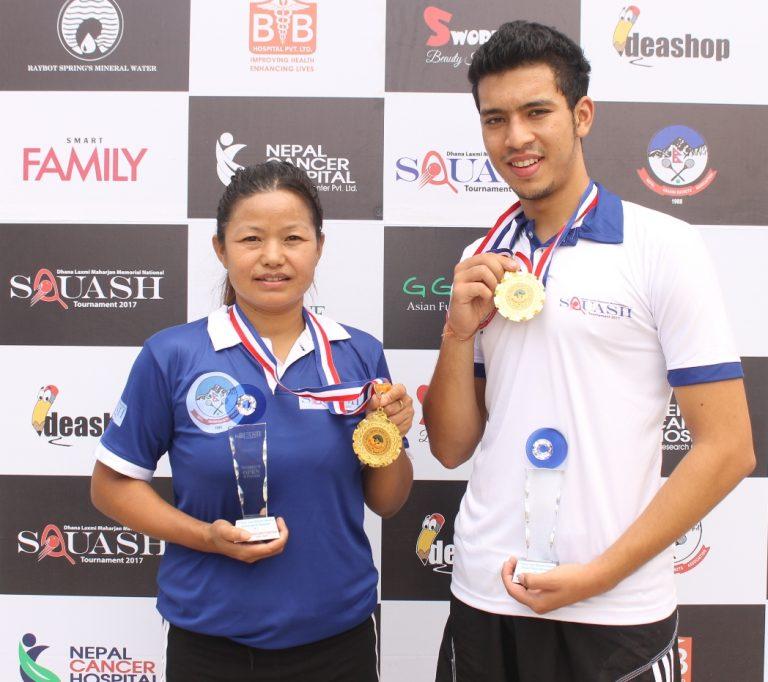 Arhanta and Bhawana win consecutive Squash titles