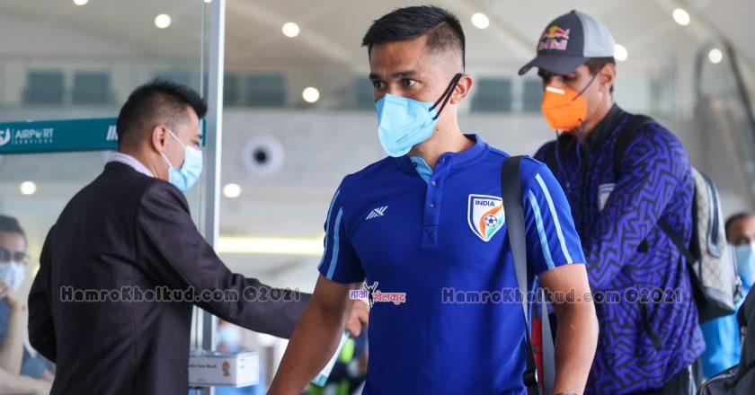 Indian Football Team lands Kathmandu for friendlies