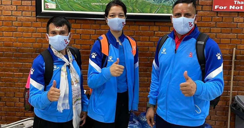 Nepal Para-Taekwondo Team leaves for Tokyo 2020 Paralympics