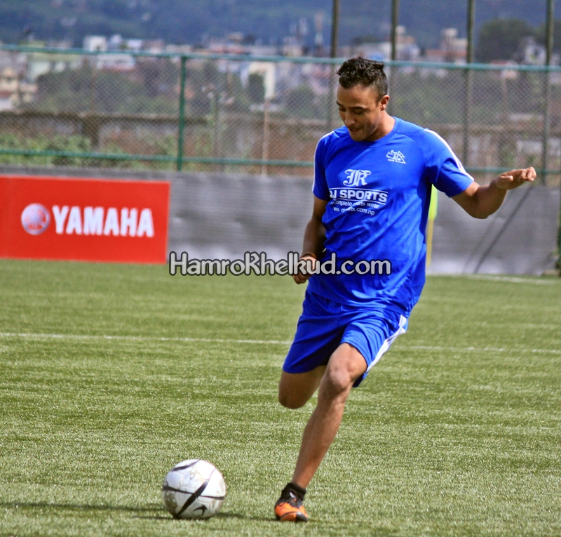 Nepal Cricket Skipper Paras Khadka playing Football