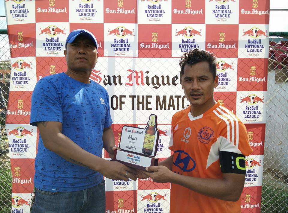 ANil Gurung Man of the match Manang Marshyangdi club