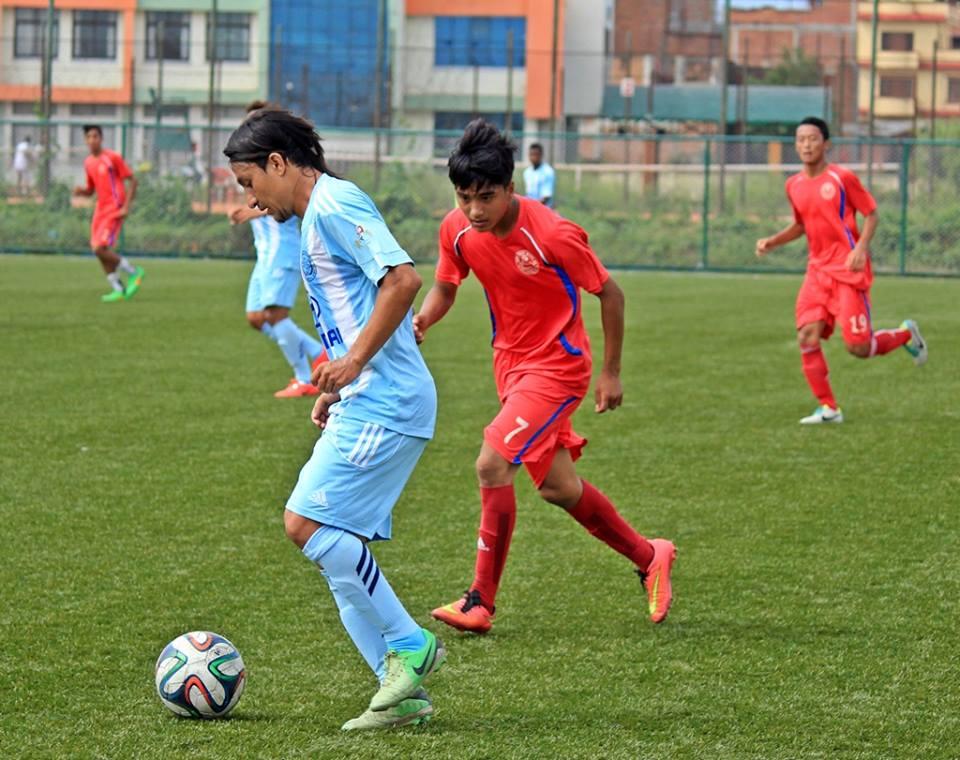 मनाङ द्वारा यु-१६ राष्ट्रिय फूटबल टिम ५-१ ले पराजित