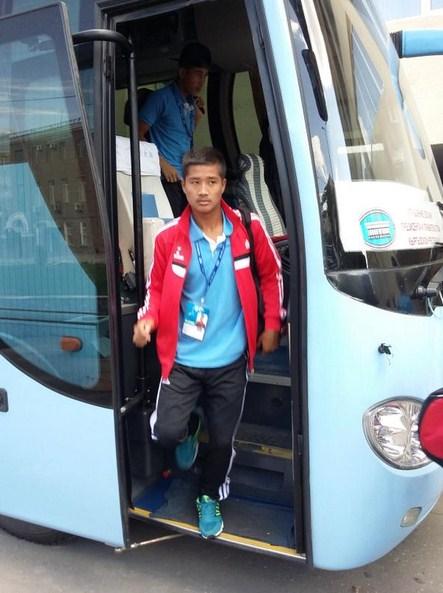 U16 Team Arrival