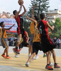 berndart vs gyan niketan basketball