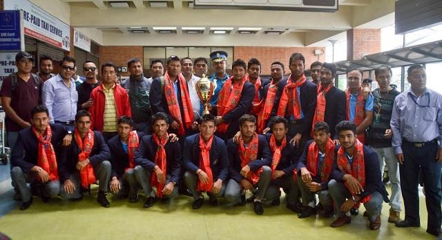 नेपाली यु-१९ क्रीकेट टोली फर्कियो