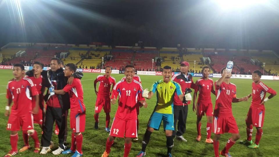 नेपाल एएफसी यु-१६ च्याम्पियनसिपको फाइनल राउण्डमा