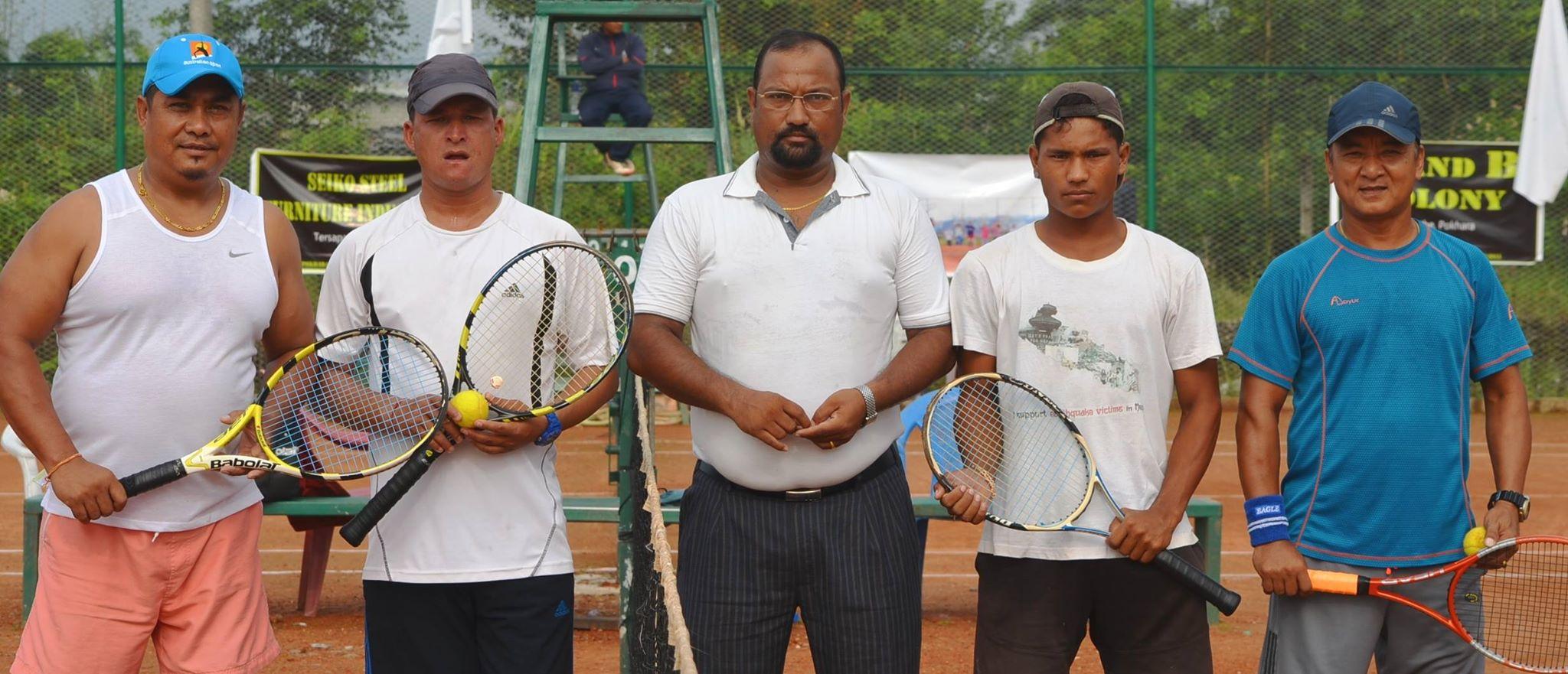 टेनिसमा डबल्सको क्वाटरफाइनल सम्पन्न