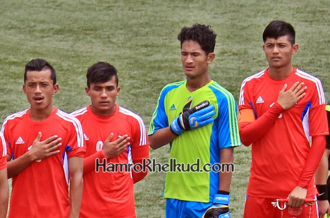 Nepal Under 19 Sojit Bishwash Tej Bimal