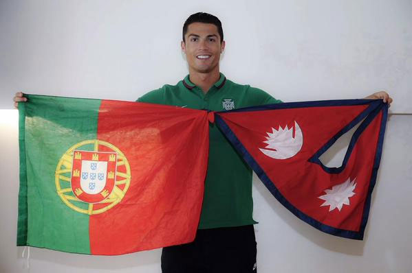 Cristiano Ronaldo Nepal Flag