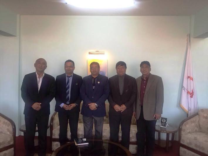 एनओसी अध्यक्ष र एएफसी प्रतिनिधिबिच भेटघाट