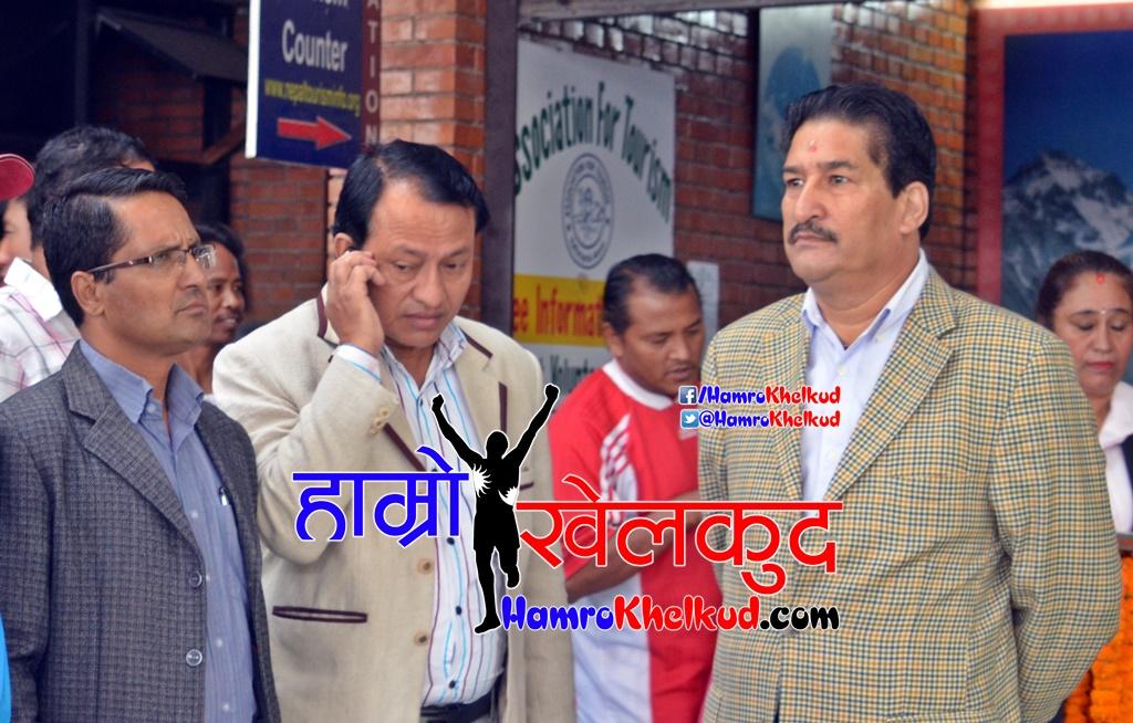 ANFA President Ganesh Thapa and NSC Member Secretary Kesham Kumar Bista