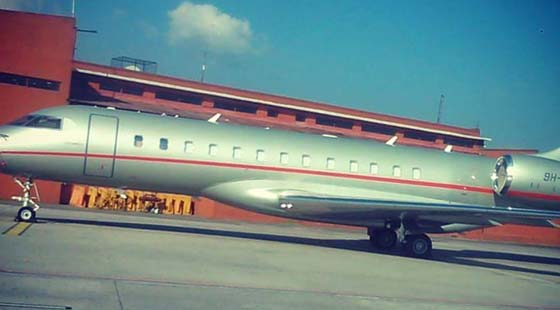 beckham private jet