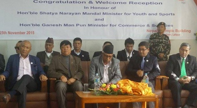 nepal olympic committe welcomes new minister