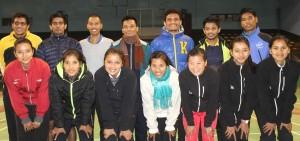 badminton team for saff games