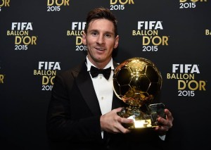 Messi wins Ballon d'Or
