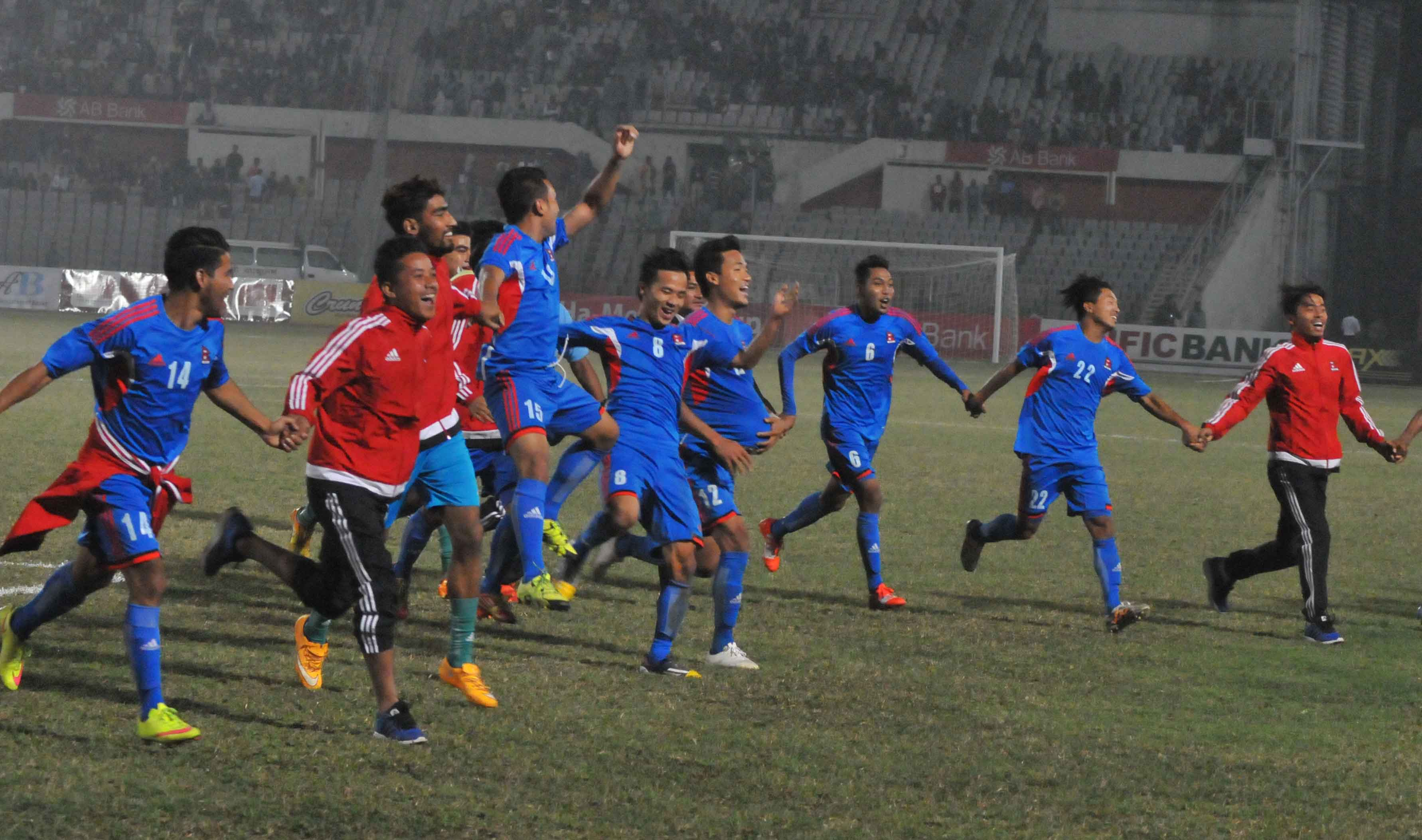Nepal(Blue)  Vs  Bahrain(Red)Final Match 8