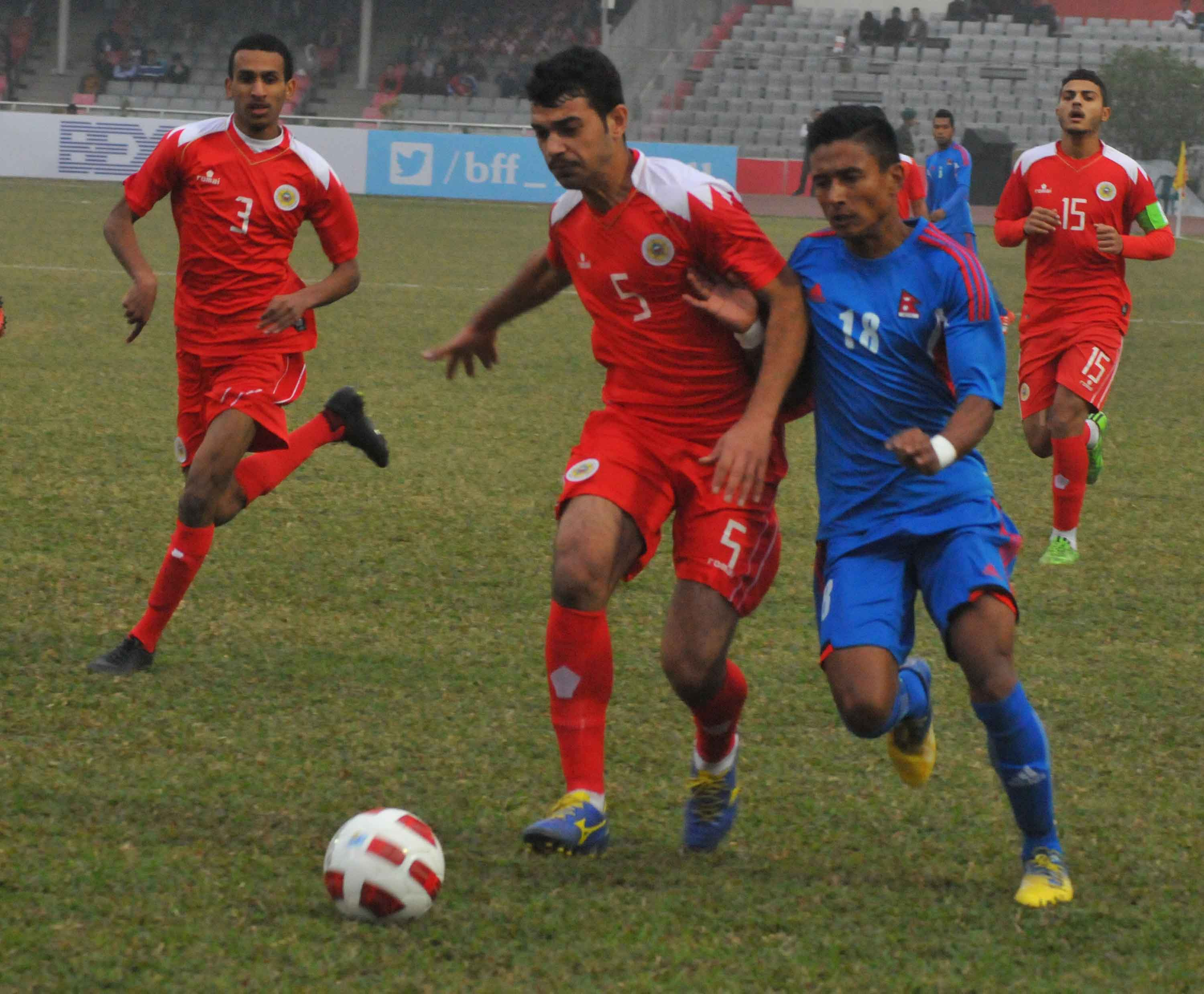 Nepal(Blue)  Vs  Bahrain(Red)Final Match h