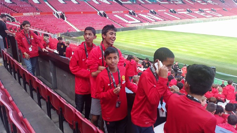 Daniel-David-Katuwal-in-the-stands-of-Old-Trafford
