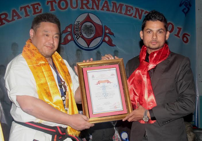 मार्शल आर्टस् हलअफ फेमका अध्यक्ष शर्मा सम्मानित