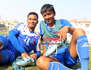 Nawayug Shrestha and Bharat Khawas Nepal Football Tribhuwan Army Club