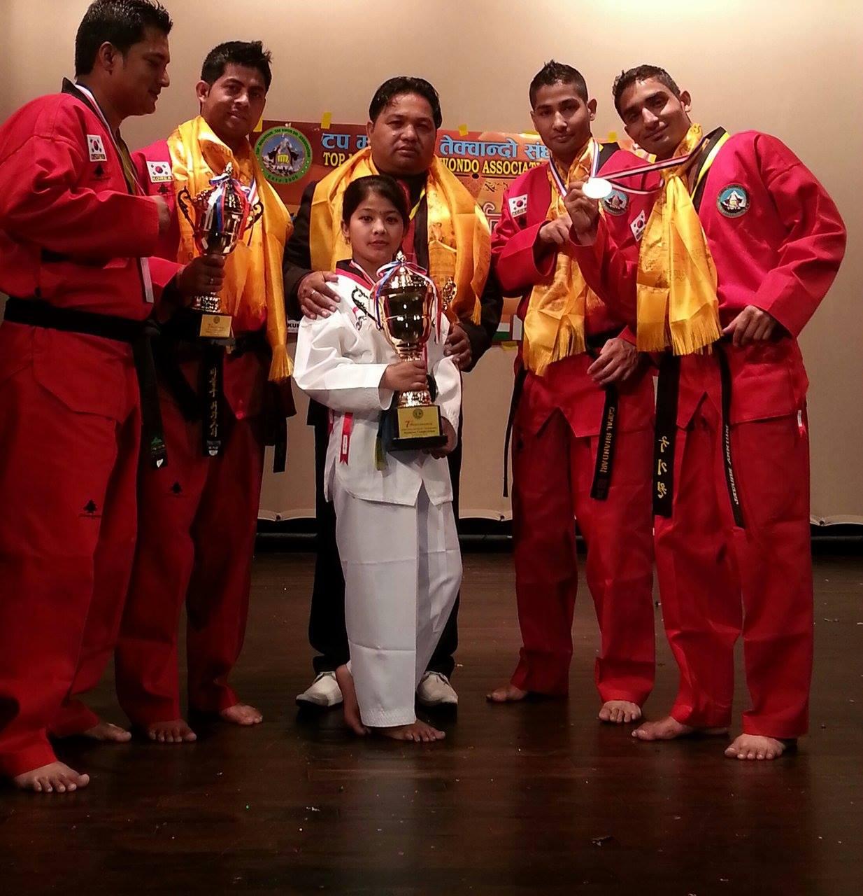 ४ स्वर्णसहित तेक्वान्दो टोली स्वदेश फिर्ता