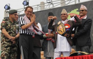 Nepal Wrestling Champion KP Oli