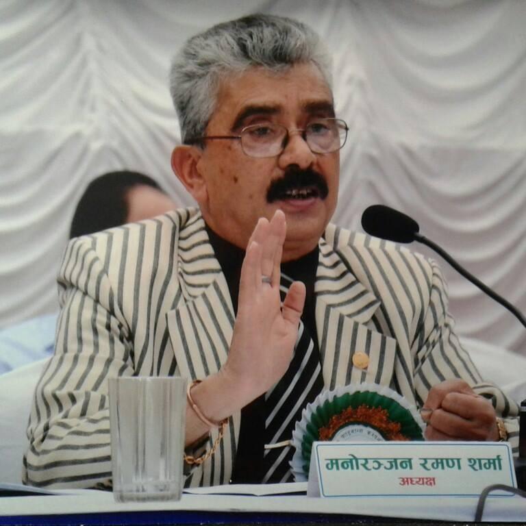 अध्यक्ष मनोरञ्जन रमण शर्मा