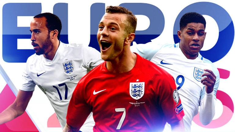 England Euro Wilshere Townsend Rashford