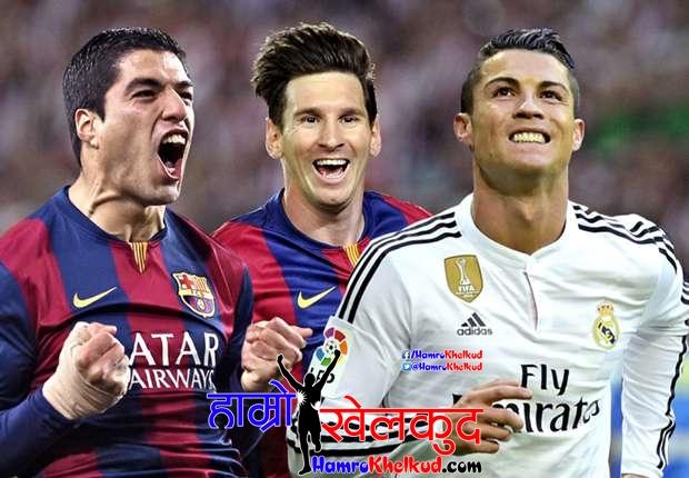 Ronaldo Messi Suarez La Liga Top scorer