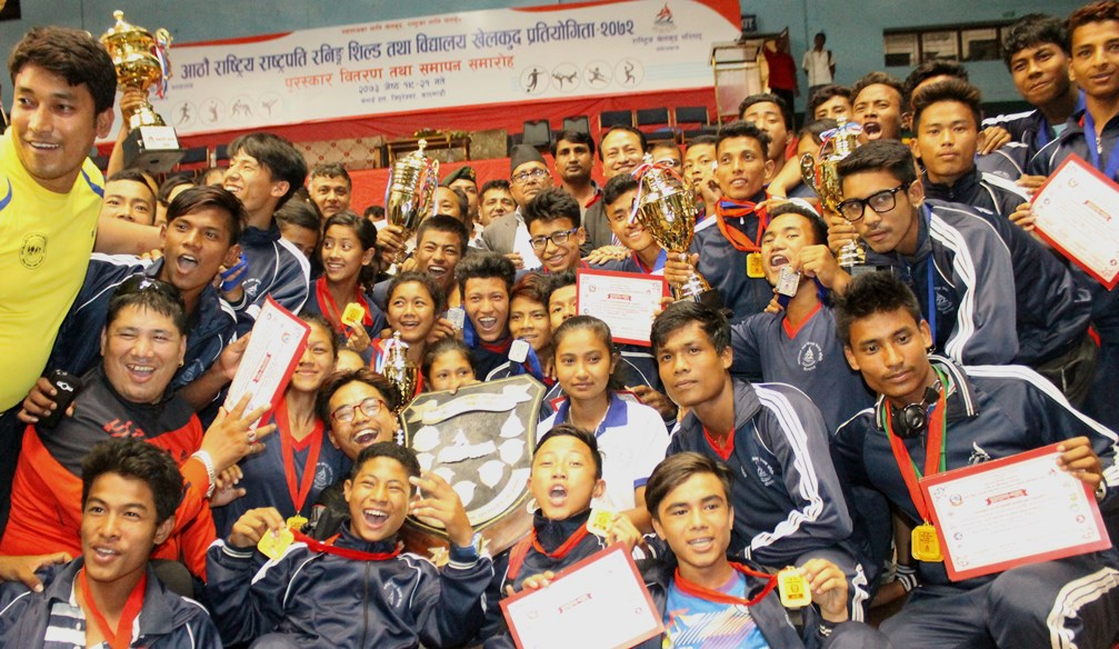 राष्ट्रपति रनिङ सिल्ड खेलकुदको टिम च्याम्पियन मध्यमाञ्चल टोली ।