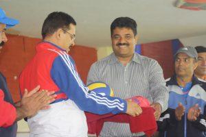 Jersey handover Nepal Police Volleyball