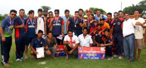 madan aasrit cricket winner Police Club