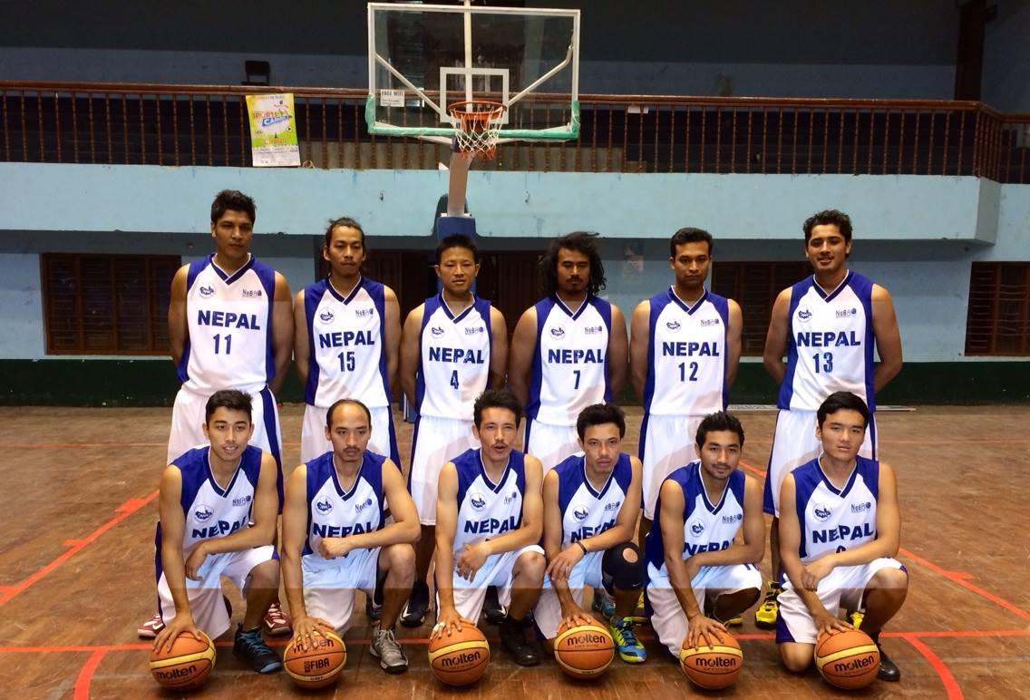 नेपाली बास्केटबल टोली (फाइल फोटो )।