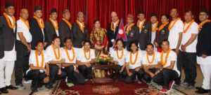 President bids farewell to Olympians