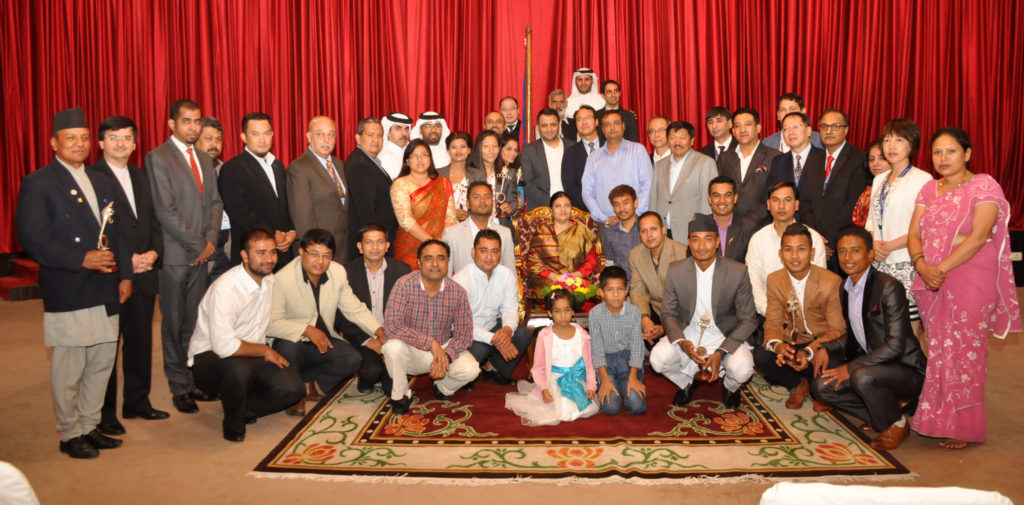 President meets AIPS ASIA and Winners of Sports Award 2072