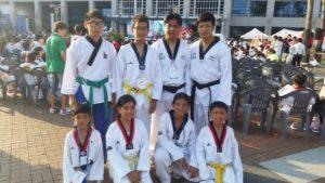 teakwando wins medal in korea