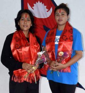 Nisha Rawal and Sangina Baidhya