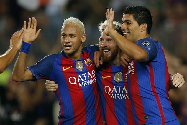 Spain Soccer Barcelona defeat Celtic Champions League