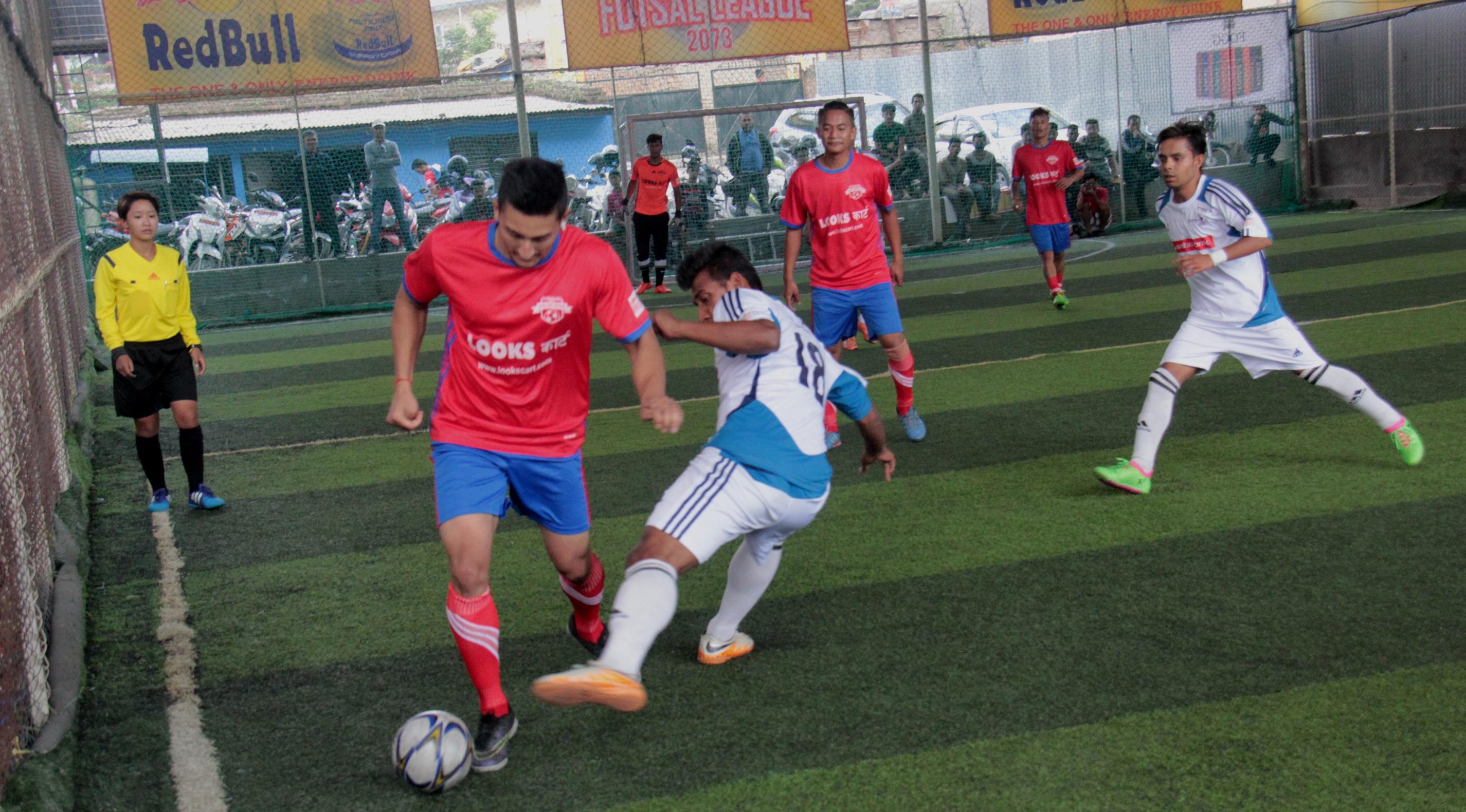 रेडबुल राष्ट्रिय फुटसल लिग किकअफ र कीर्तिपुर फुटसल विजयी