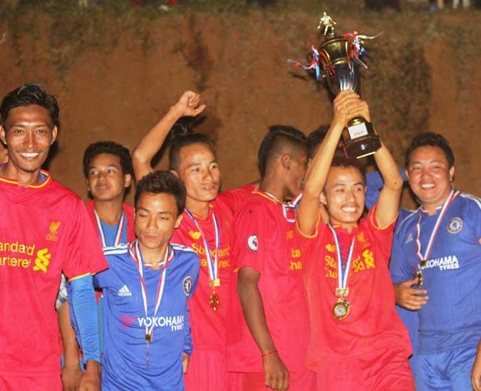 तरुण नकआउट फुटवल प्रतियोगिताको उपाधी फिदिम १ लाई