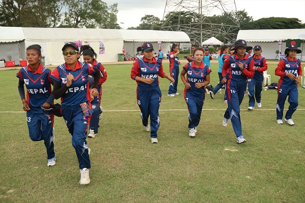 Team entering the field