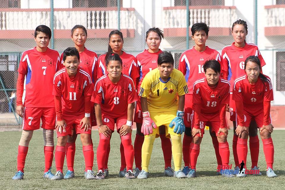 नेपाली सेनाको महिला फुटबल टोली । फाइल तस्बिर