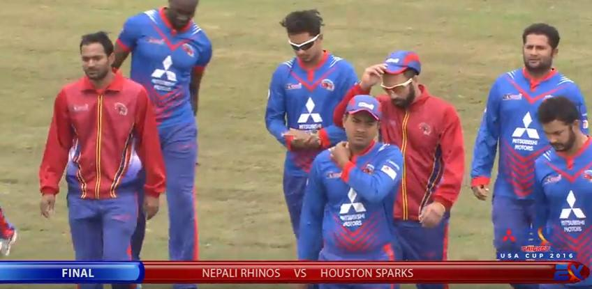 पहिलो इनिङ नेपाली राइनोजको ७३ रन, कप्तान पारस २३ मा अविजित