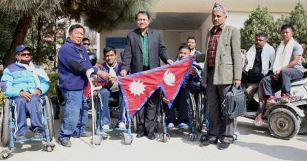 व्हीलचेयर खेलाडी टोली क्रिकेट र बास्केटबल खेल्न भारत जाँदै