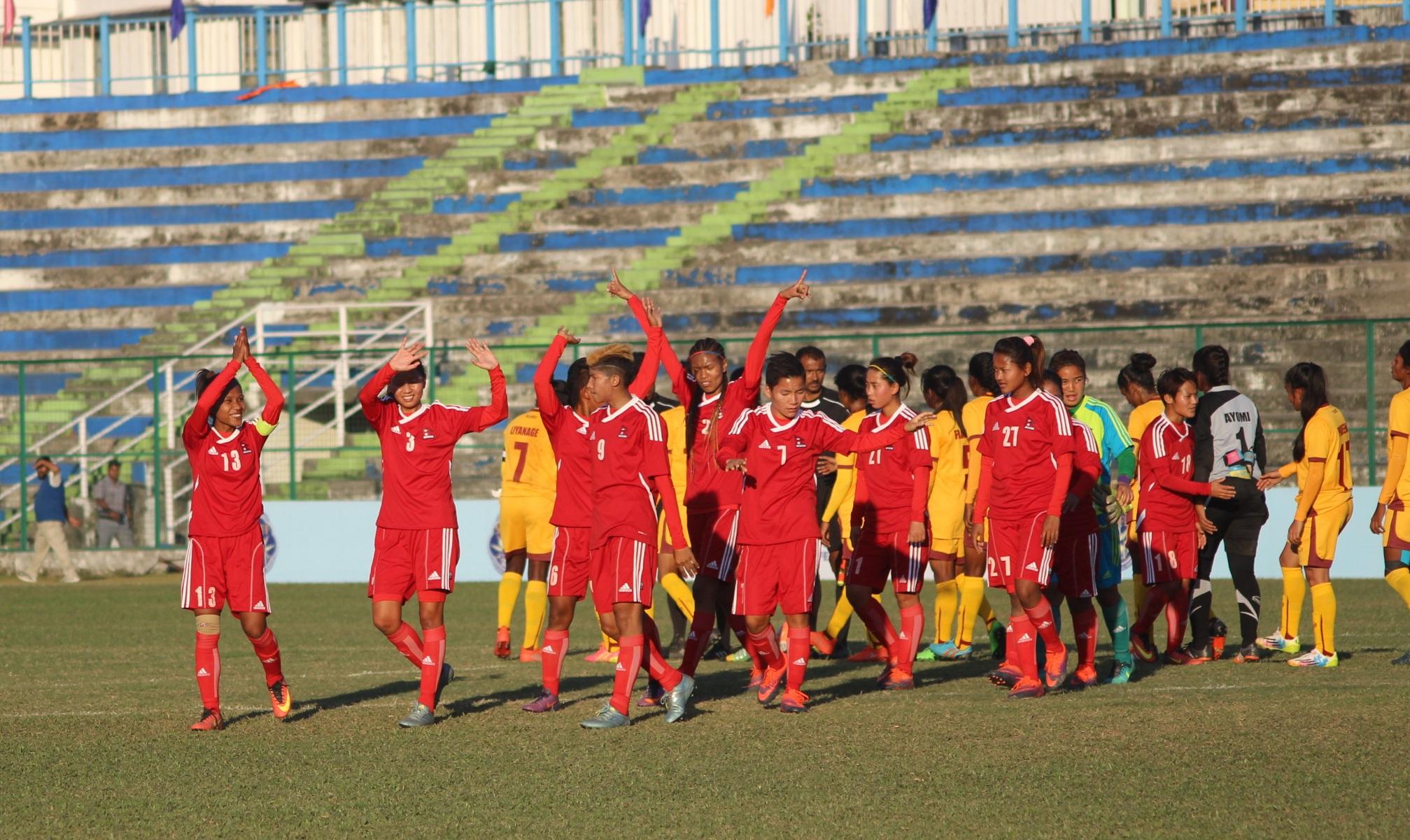 नेपाल १-० श्रीलंका फोटो फिचर