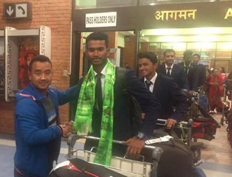 युवा क्रिकेट टोली श्रीलंकाबाट स्वदेश फिर्ता