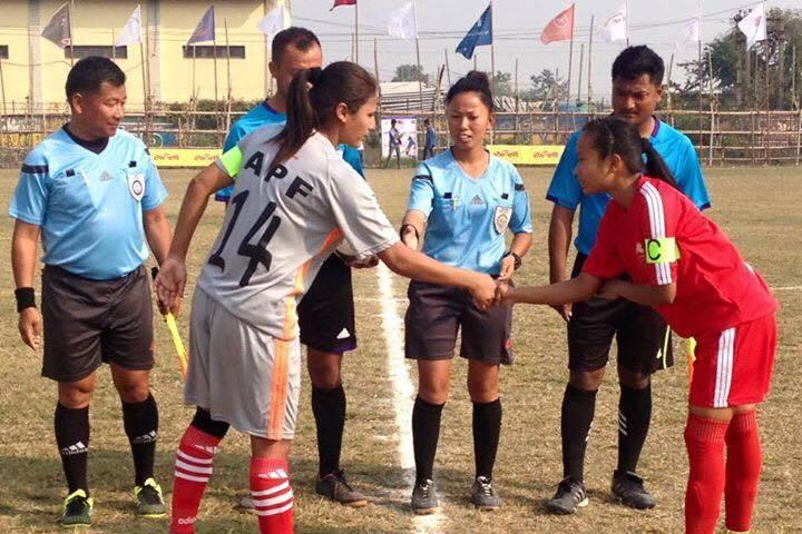 एपिएफ महिला फुटबलको सेमिफाइनल नजिक