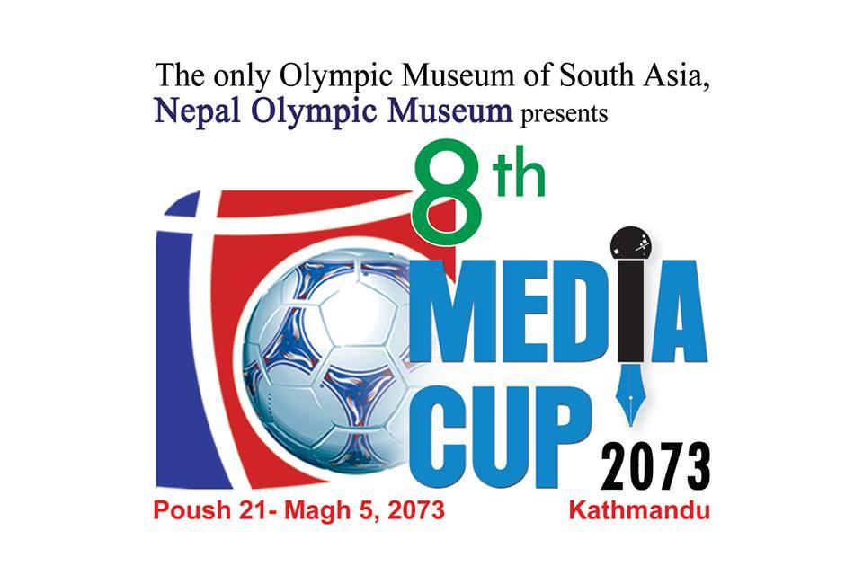 आठौं मिडिया कप फुटबल दशरथ रंगशालामा हुने