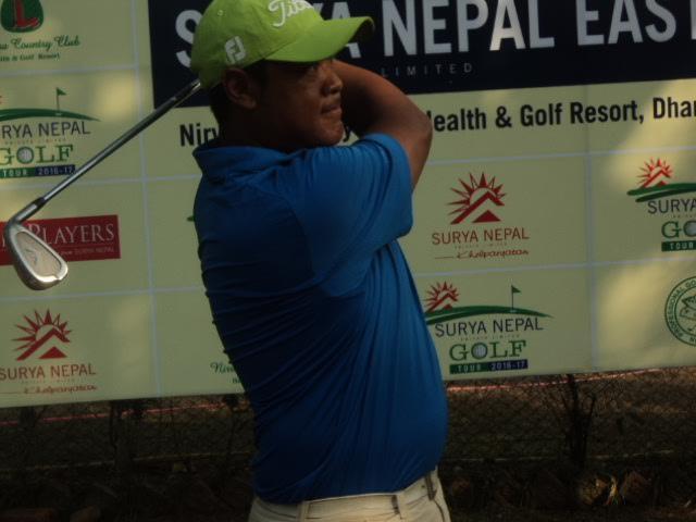 सूर्य नेपाल इस्टर्न ओपनको दोस्रो दिन शिवरामको एकल अग्रता